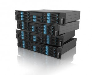 Stack of computer server units